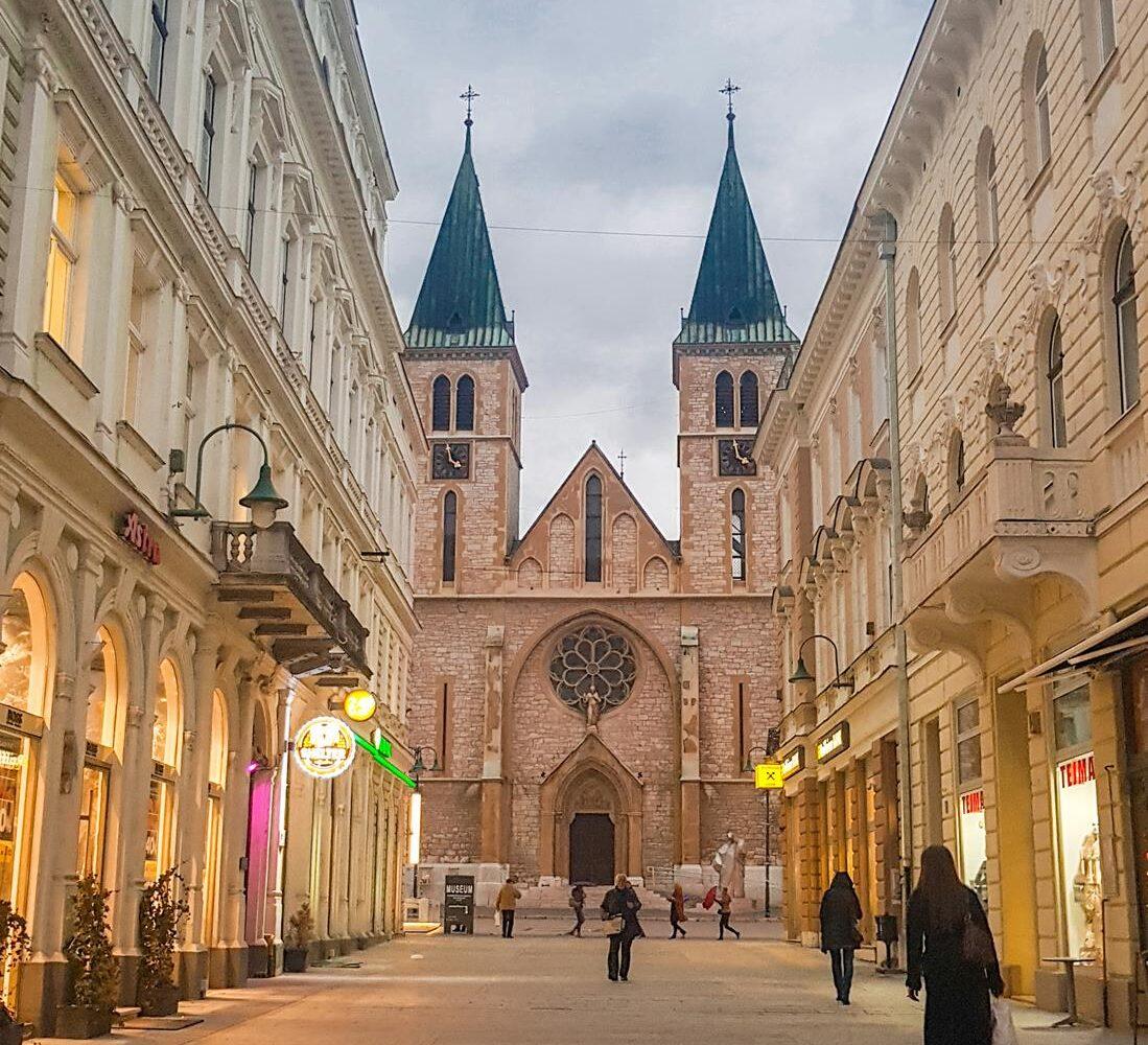 bosnia, sarajevo, balkans, travel, tours in sarajevo, tours in bosnia, tours in balkans, walking tour, cathedral, virtual tour